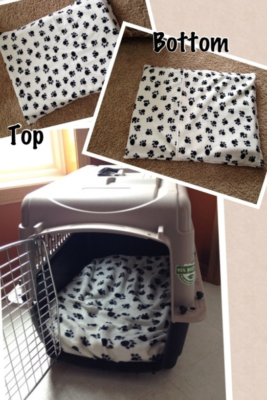 DIY dog crate pad
